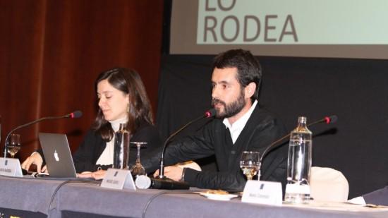 Marta Barrera y Miguel Gentil, fundadores de Baum Architects junto a Javier Caro.