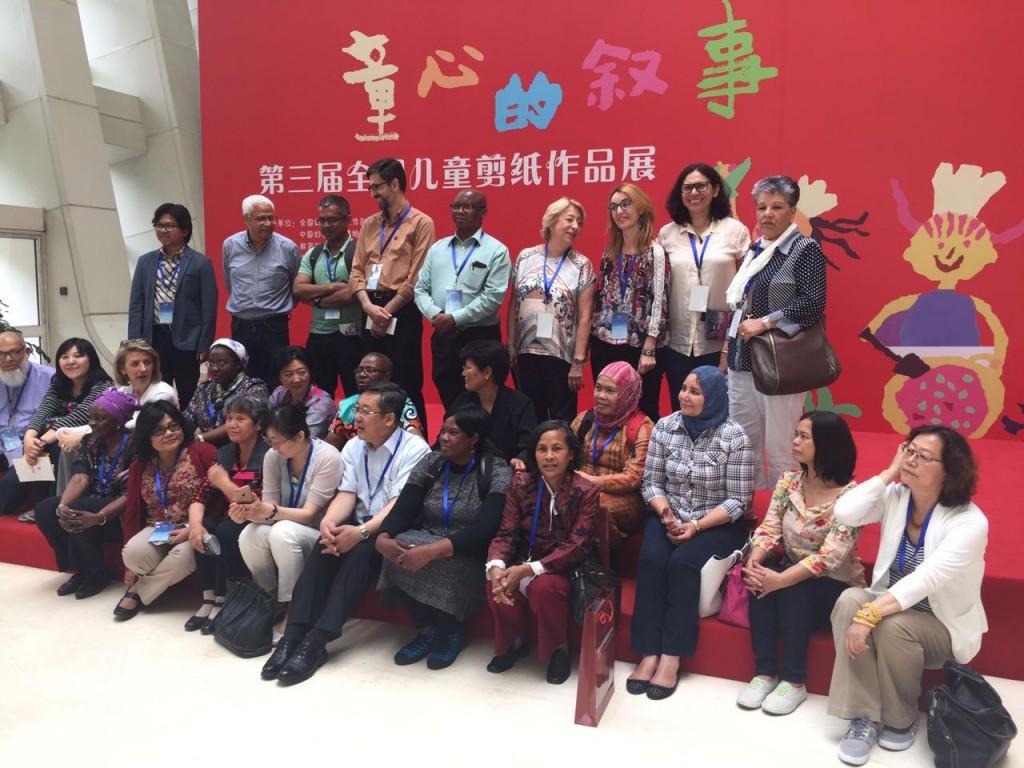 Ana García junto a los participantes en el seminario sobre educación de mujeres y niñas en Pekín
