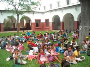 Niños saharauis en los Centros Sociales de Miraflores (Sevilla)