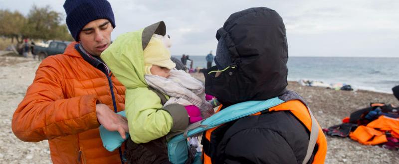 Bomberos de Preem-Aid en Lesbos. Foto: Ignacio Gil