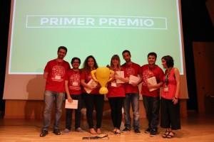 Equipo de 'Indieye', idea ganadora del primer Startup Weekend de Videojuegos