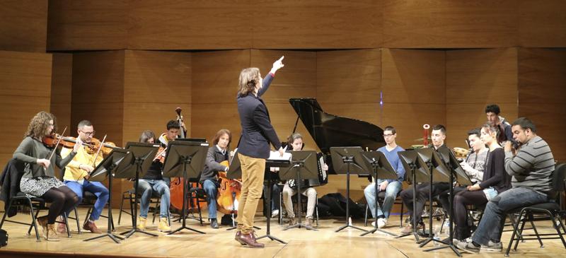 La Academia de Estudios Orquestales, promovida por la Fundación Barenboim-Said, en una de sus actividades en Sevilla