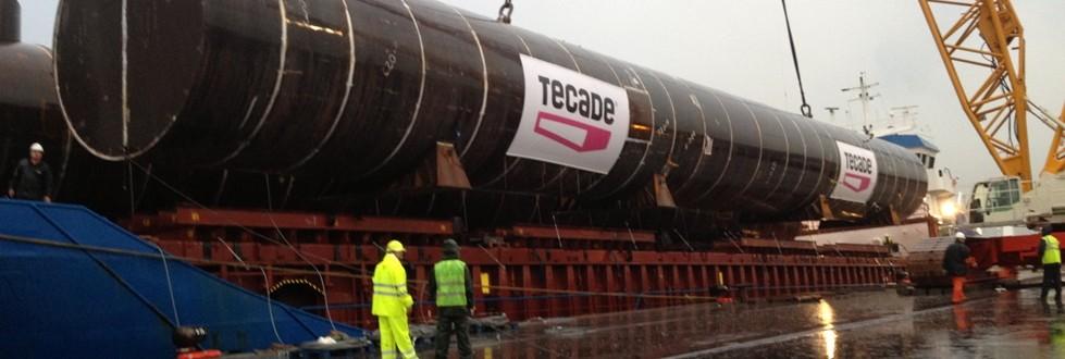 Estructuras creadas por Tecade y enviadas al Reino Unido para plataformas en el Mar del Norte