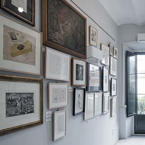 Interior del espacio Carmen Aranguren Fine Art