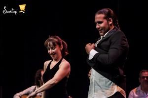 La coreógrafa Roser Font y el bailaor Juan José Villar en la primera edición del Suntap Festival. Fotografía de Valentina Ricci