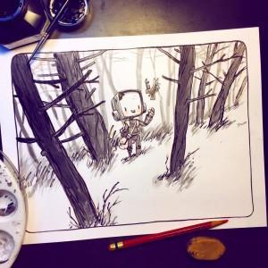 Una ilustración de Jake Parker