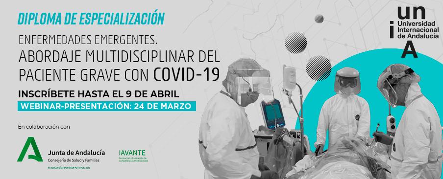 La Universidad Internacional de Andalucía lanza el primer posgrado en España orientado al tratamiento de pacientes graves con Covid-19